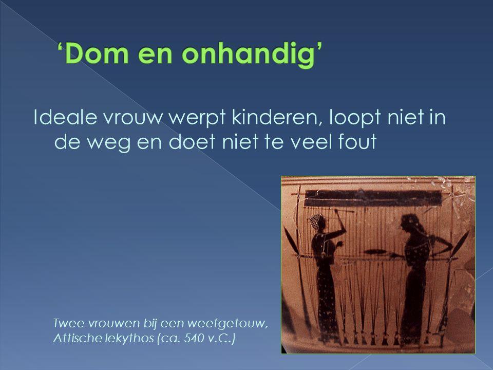 'Dom en onhandig' Ideale vrouw werpt kinderen, loopt niet in de weg en doet niet te veel fout.