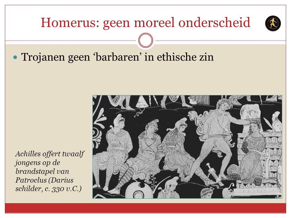 Homerus: geen moreel onderscheid