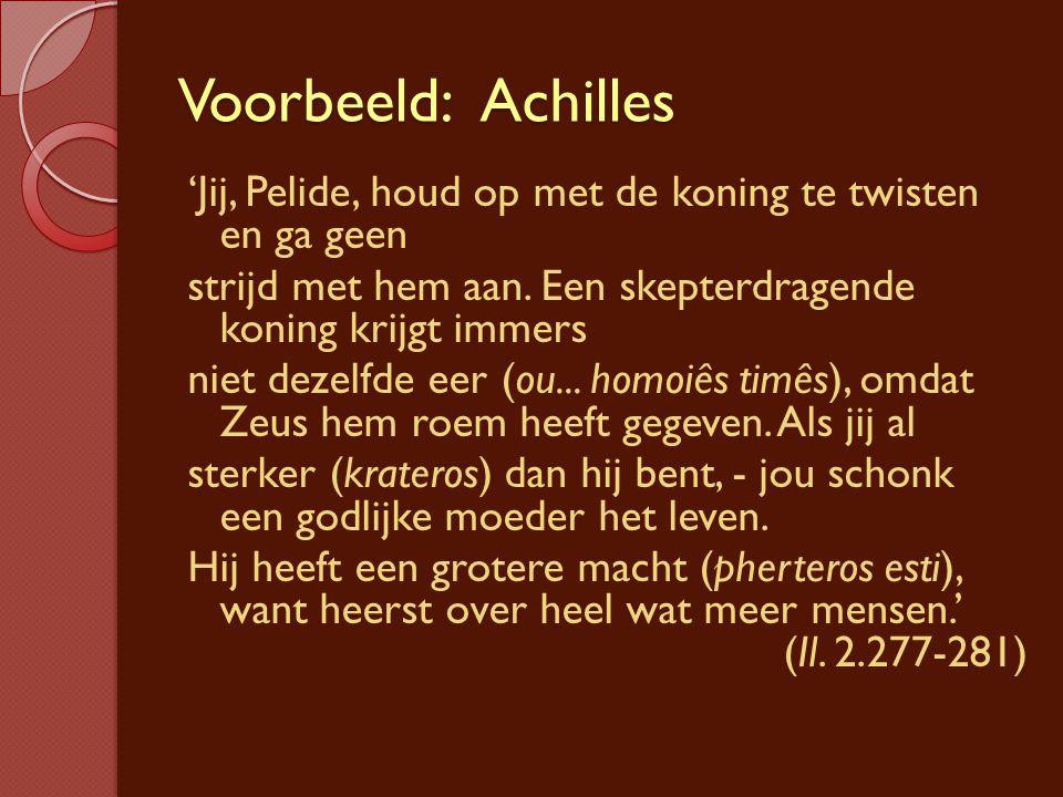 Voorbeeld: Achilles