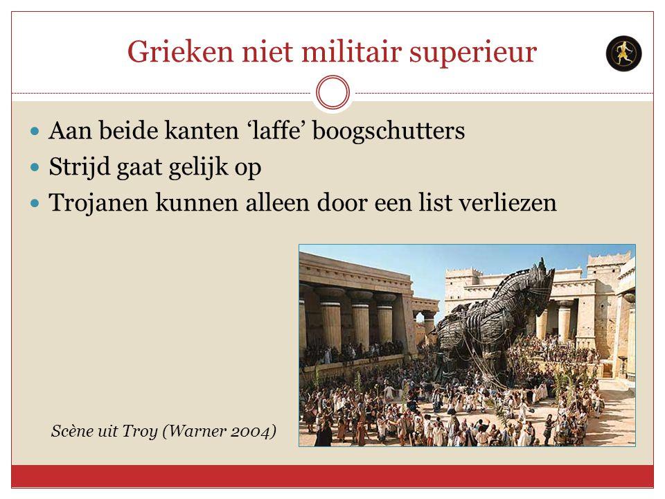 Grieken niet militair superieur