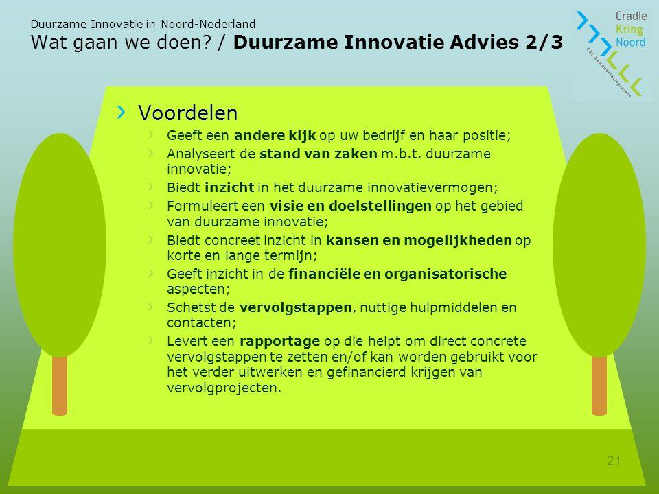 Wat gaan we doen / Duurzame Innovatie Advies 2/3