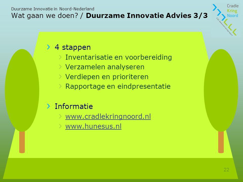 Wat gaan we doen / Duurzame Innovatie Advies 3/3
