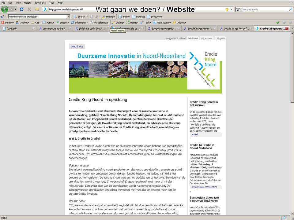 Wat gaan we doen / Website