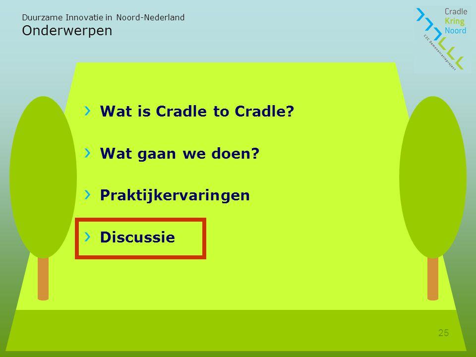 Wat is Cradle to Cradle Wat gaan we doen Praktijkervaringen