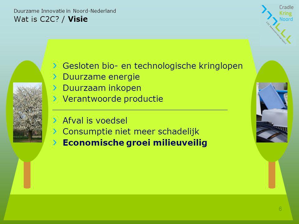 Gesloten bio- en technologische kringlopen Duurzame energie