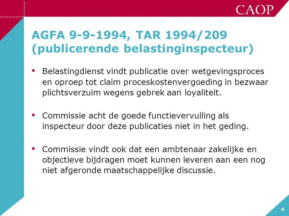 AGFA 9-9-1994, TAR 1994/209 (publicerende belastinginspecteur)