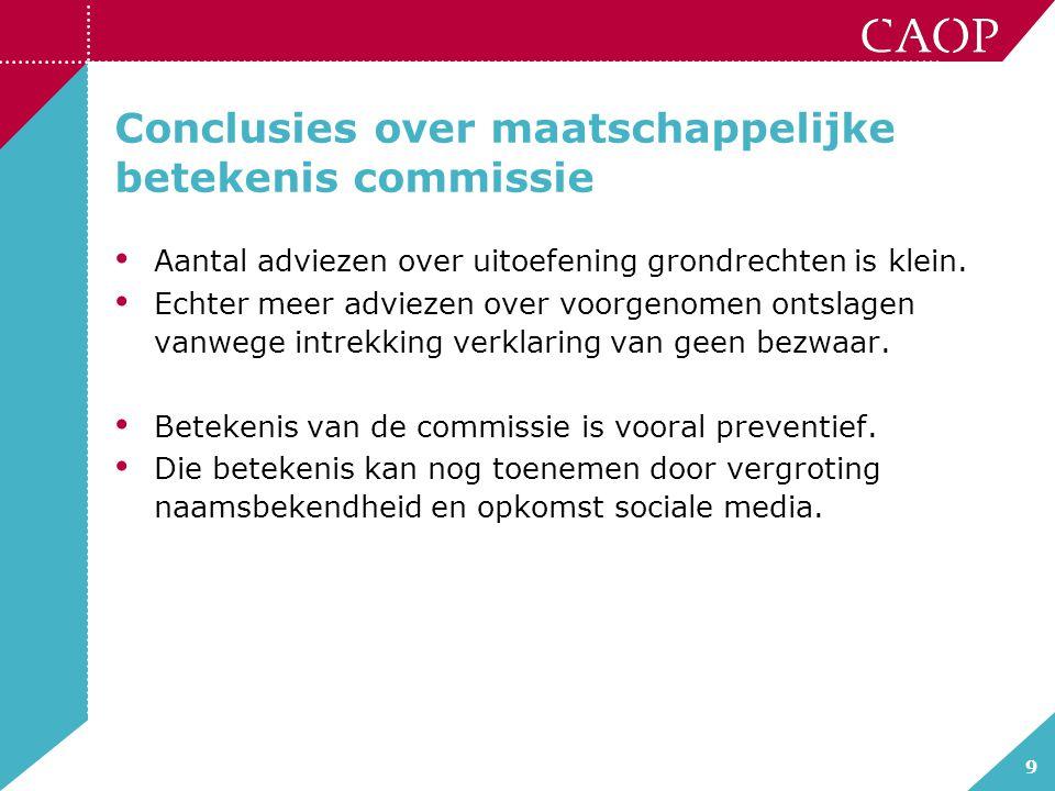 Conclusies over maatschappelijke betekenis commissie