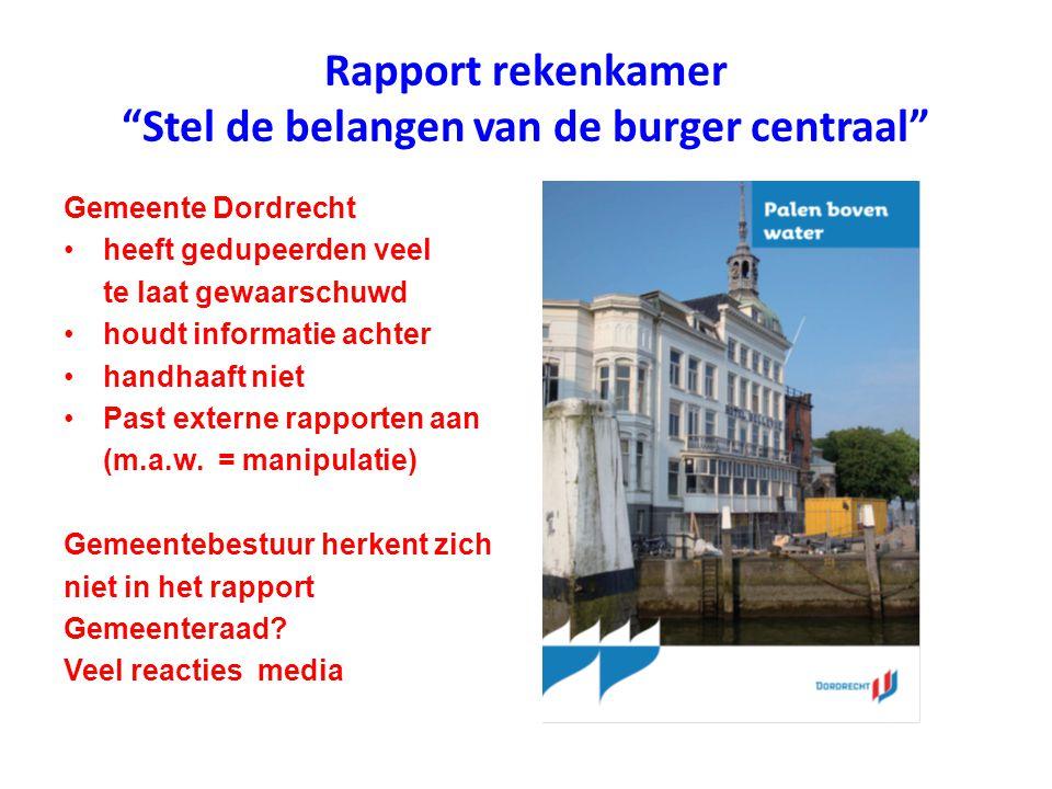 Rapport rekenkamer Stel de belangen van de burger centraal