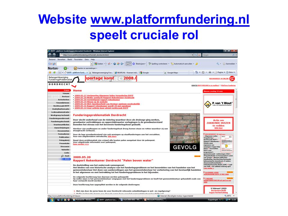 Website   speelt cruciale rol