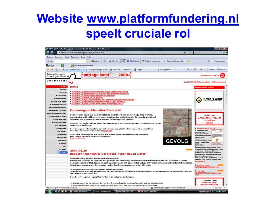 Website www.platformfundering.nl speelt cruciale rol