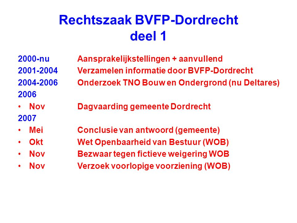 Rechtszaak BVFP-Dordrecht deel 1