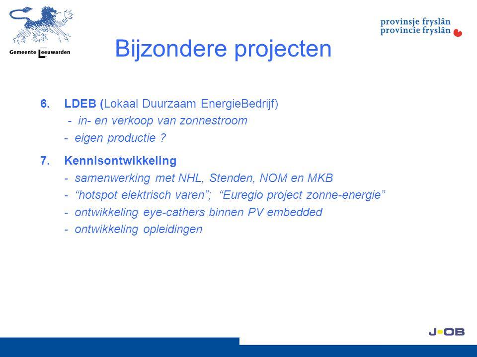 Bijzondere projecten LDEB (Lokaal Duurzaam EnergieBedrijf) - in- en verkoop van zonnestroom - eigen productie