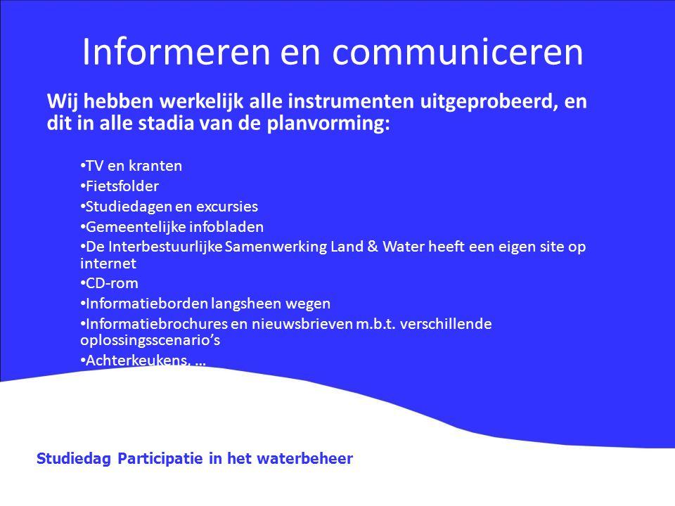 Informeren en communiceren