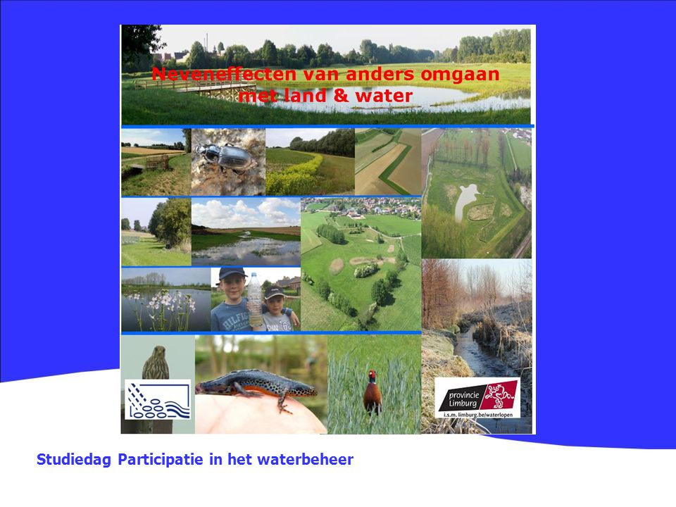 Studiedag Participatie in het waterbeheer