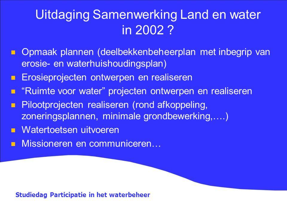Uitdaging Samenwerking Land en water in 2002
