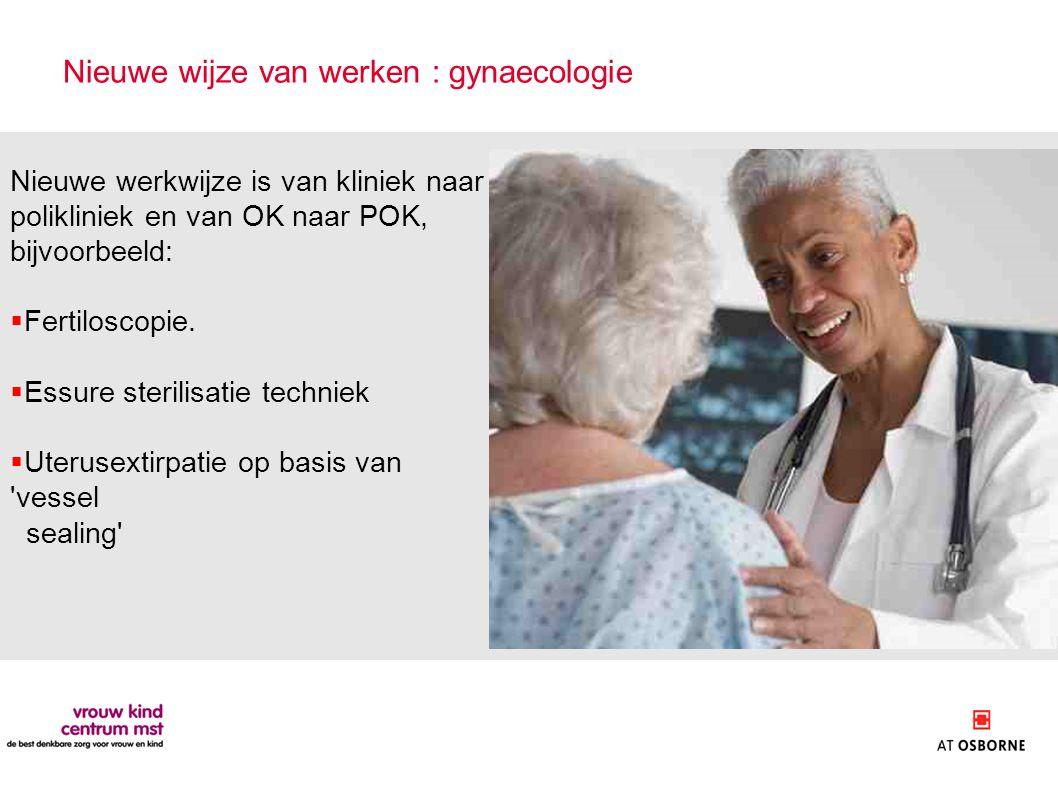 Nieuwe wijze van werken : gynaecologie