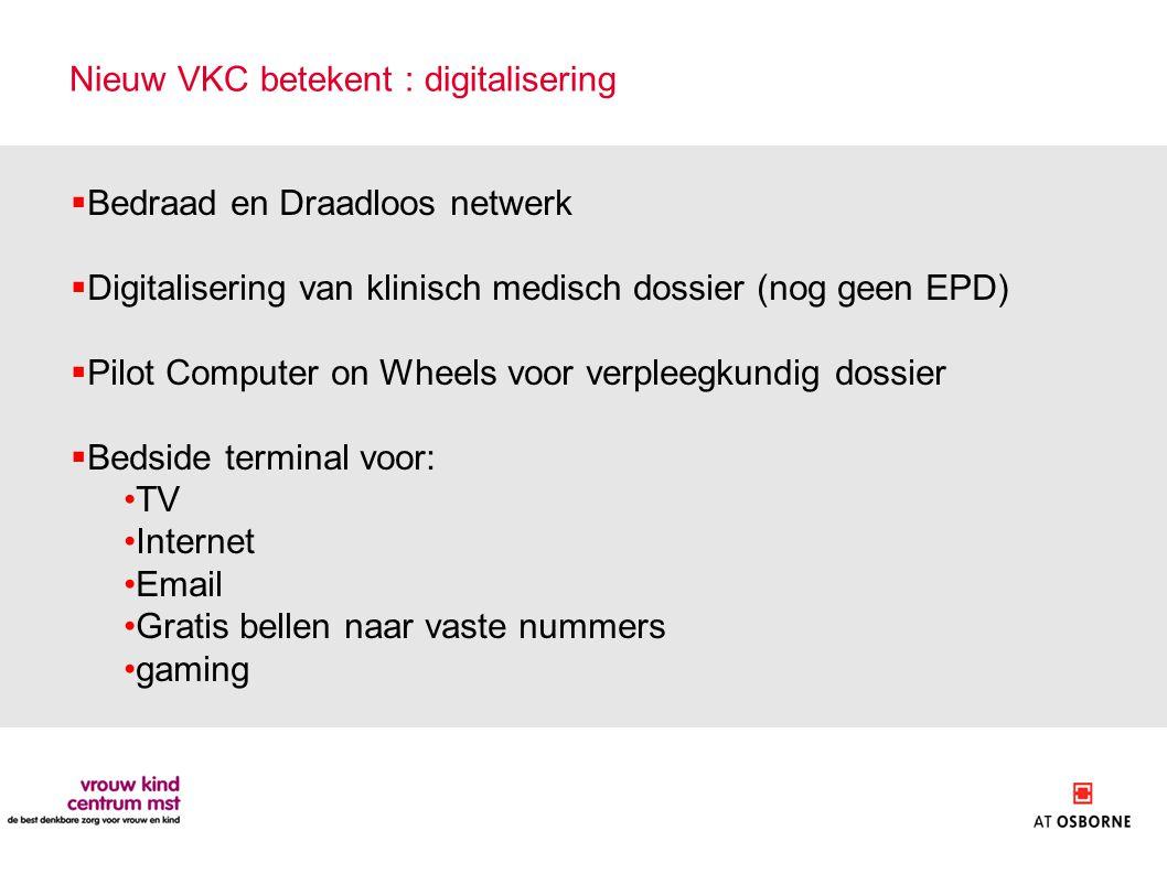 Nieuw VKC betekent : digitalisering