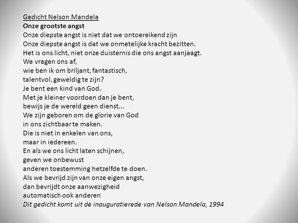 Gedicht Nelson Mandela