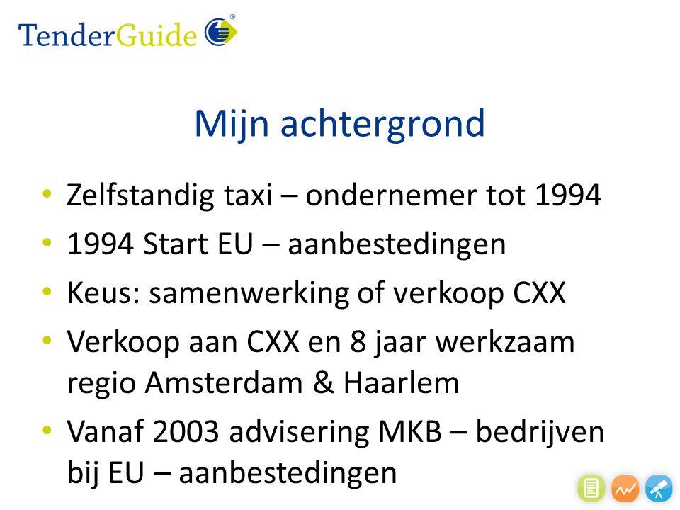 Mijn achtergrond Zelfstandig taxi – ondernemer tot 1994