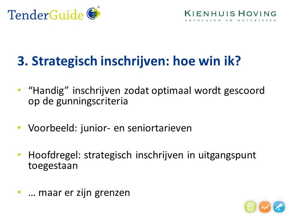 3. Strategisch inschrijven: hoe win ik