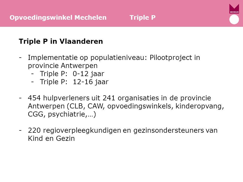 Implementatie op populatieniveau: Pilootproject in provincie Antwerpen