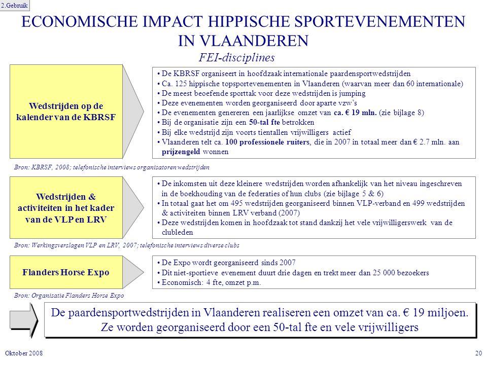 ECONOMISCHE IMPACT HIPPISCHE SPORTEVENEMENTEN IN VLAANDEREN