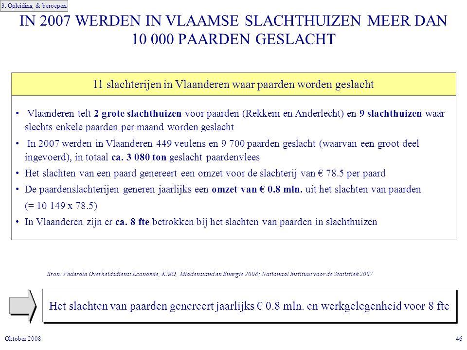 11 slachterijen in Vlaanderen waar paarden worden geslacht