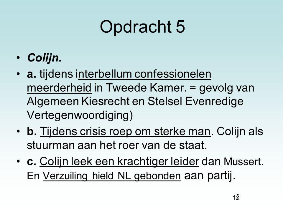 Opdracht 5 Colijn.