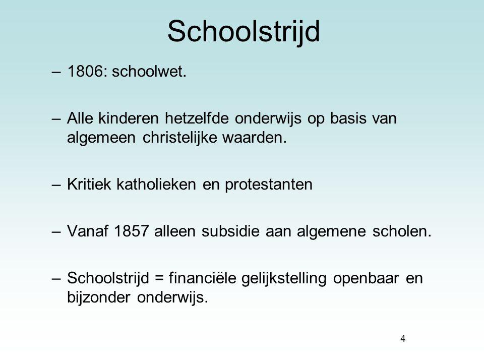 Schoolstrijd 1806: schoolwet.