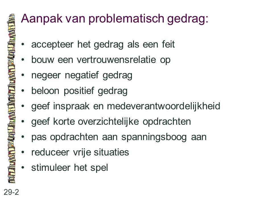 Aanpak van problematisch gedrag: