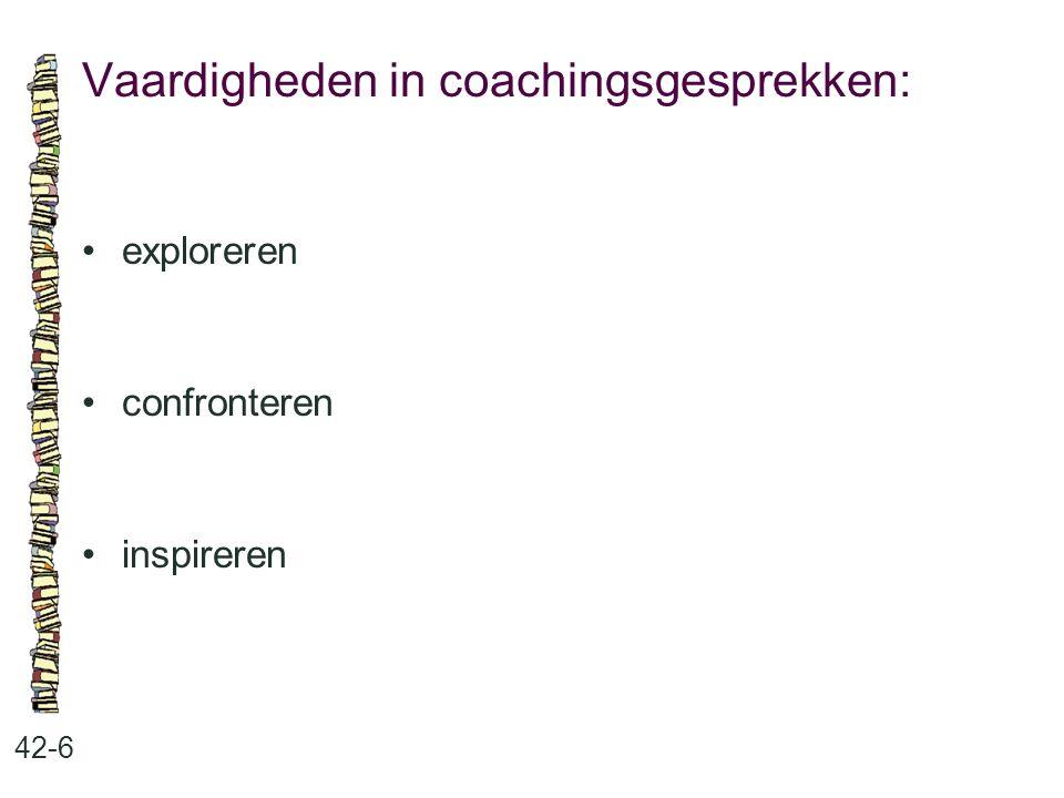 Vaardigheden in coachingsgesprekken: