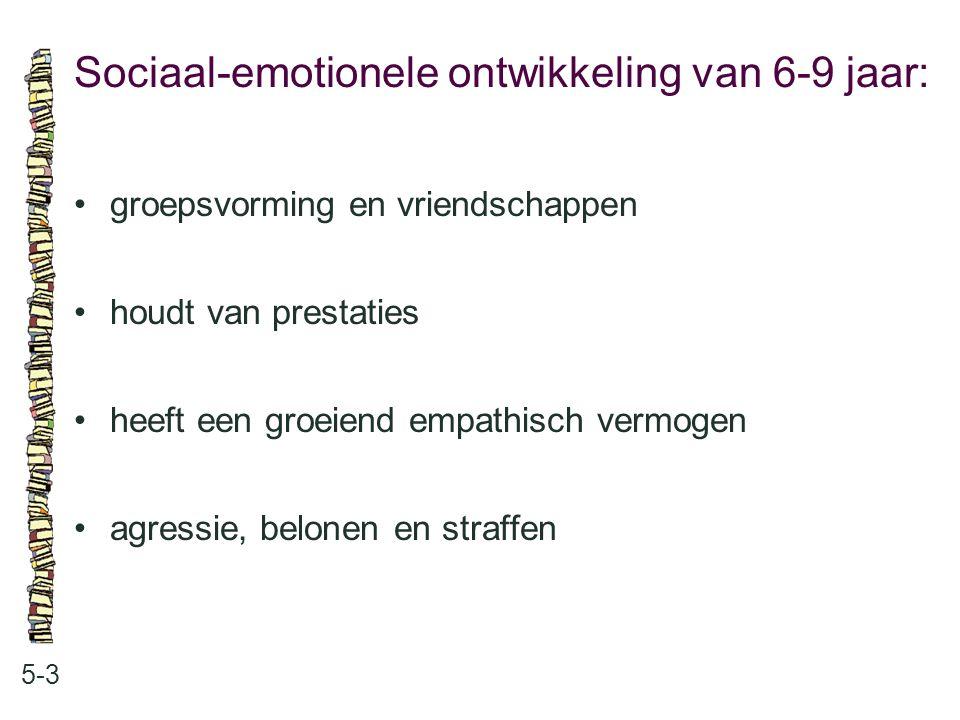 Sociaal-emotionele ontwikkeling van 6-9 jaar: