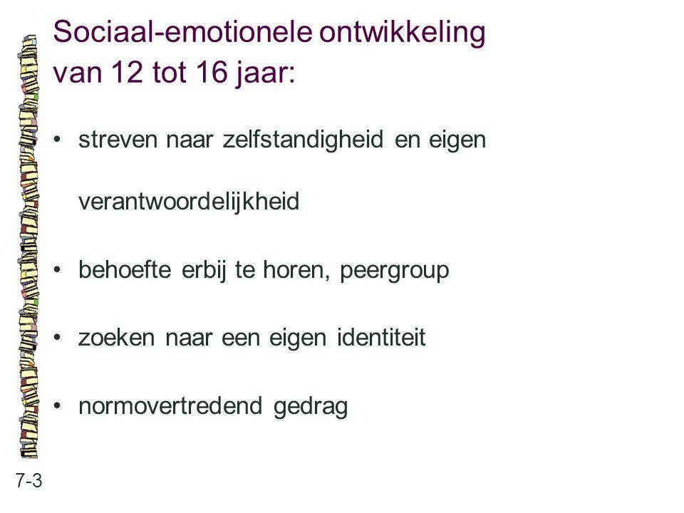 Sociaal-emotionele ontwikkeling van 12 tot 16 jaar:
