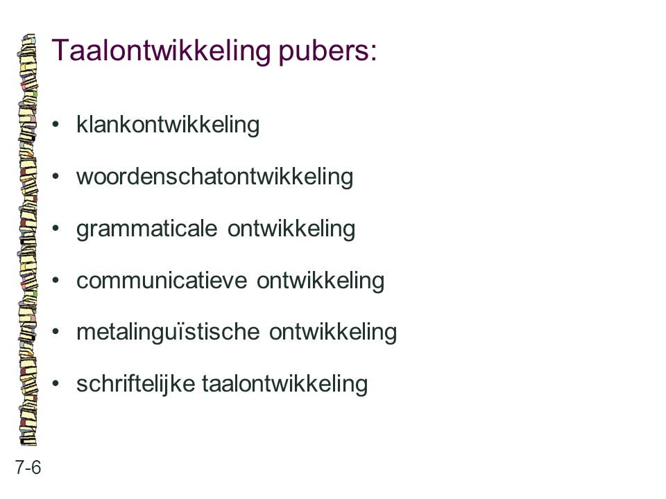 Taalontwikkeling pubers: