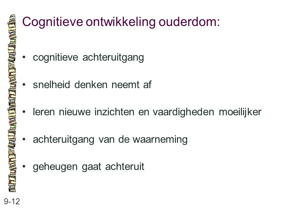 Cognitieve ontwikkeling ouderdom:
