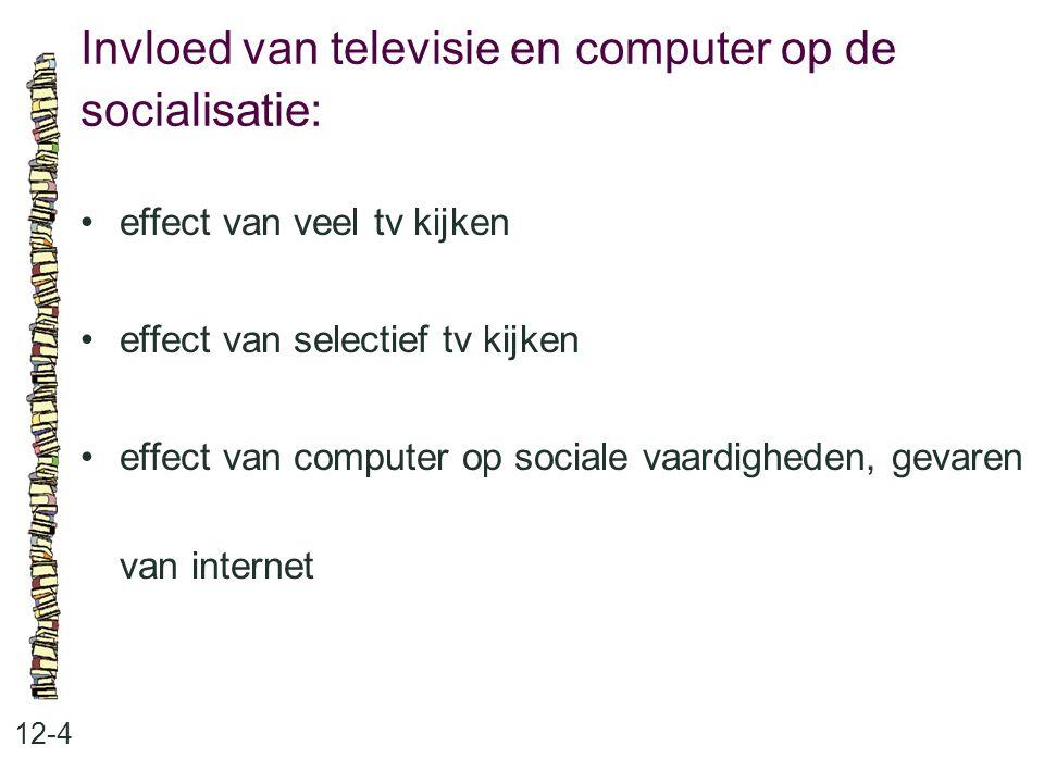 Invloed van televisie en computer op de socialisatie: