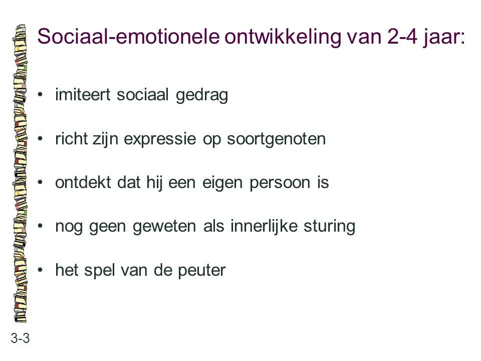 Sociaal-emotionele ontwikkeling van 2-4 jaar: