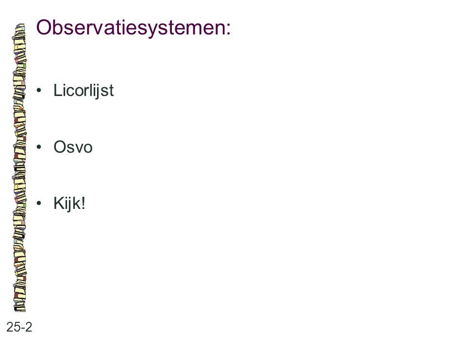 Observatiesystemen: Licorlijst Osvo Kijk! 25-2