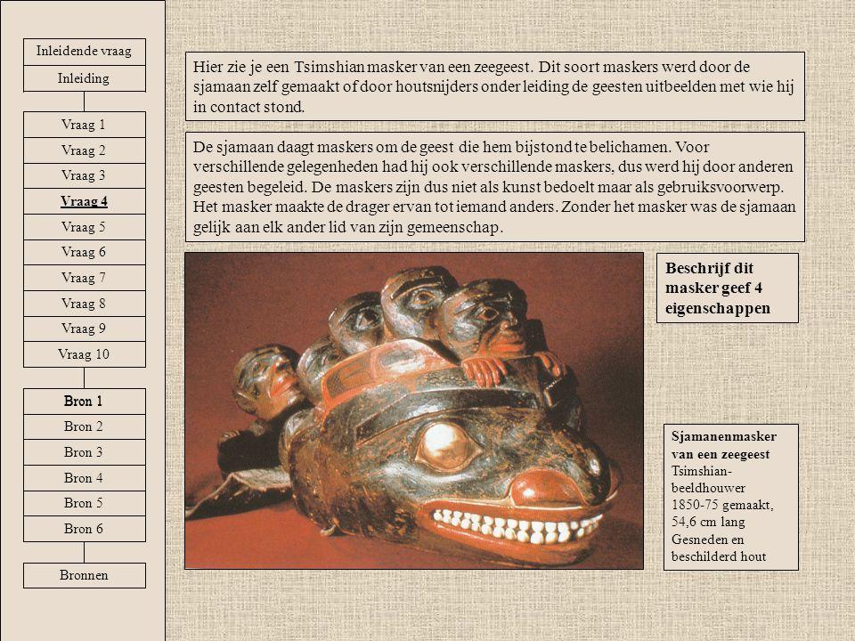 Beschrijf dit masker geef 4 eigenschappen