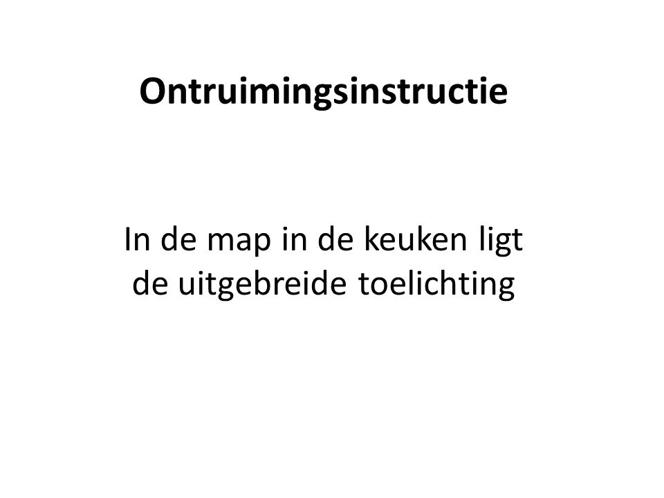 Ontruimingsinstructie