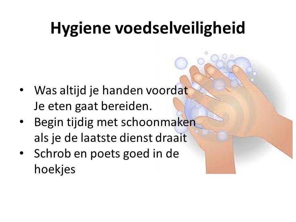 Hygiene voedselveiligheid