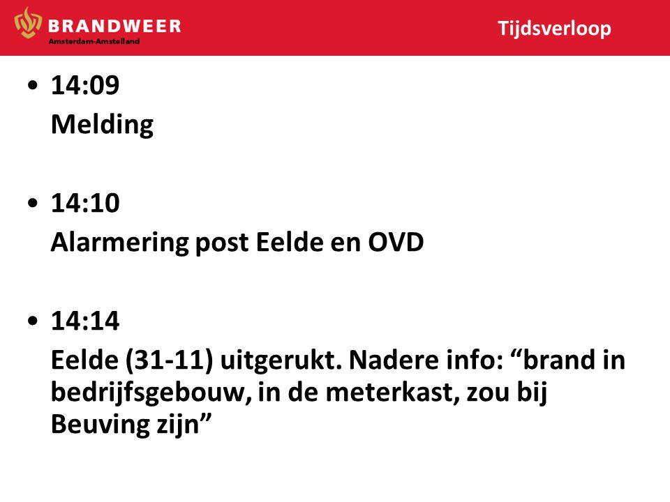 Alarmering post Eelde en OVD 14:14