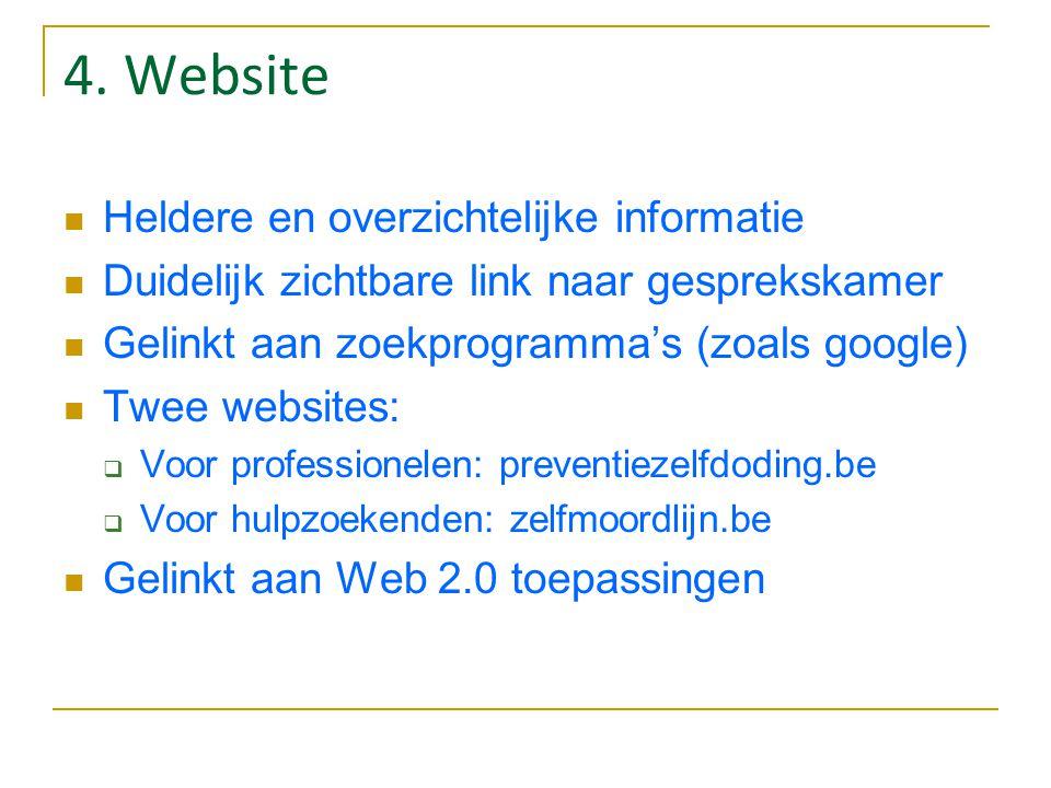 4. Website Heldere en overzichtelijke informatie
