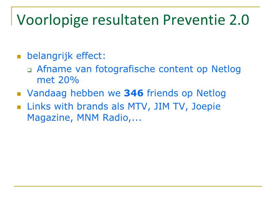 Voorlopige resultaten Preventie 2.0