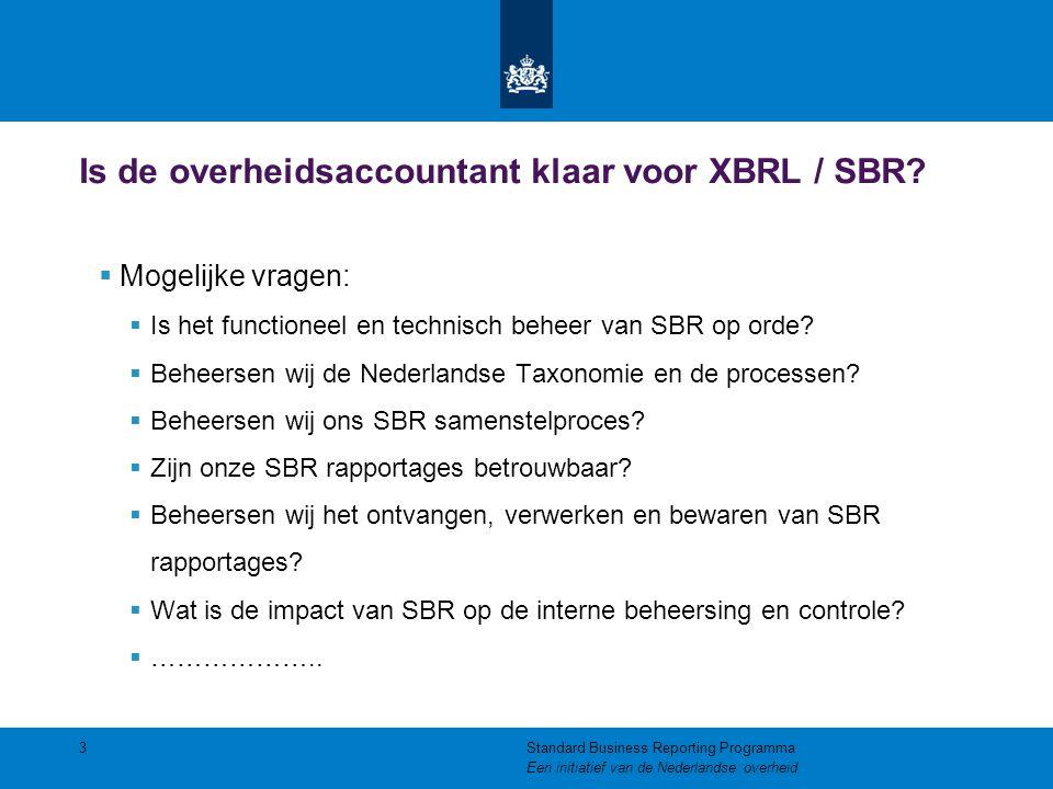 Is de overheidsaccountant klaar voor XBRL / SBR