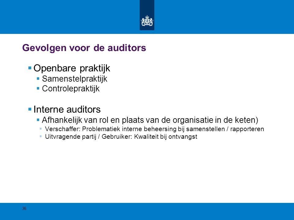 Gevolgen voor de auditors