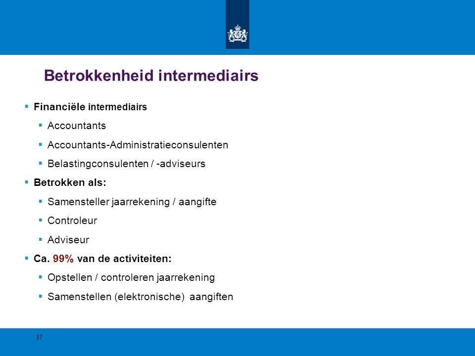 Betrokkenheid intermediairs