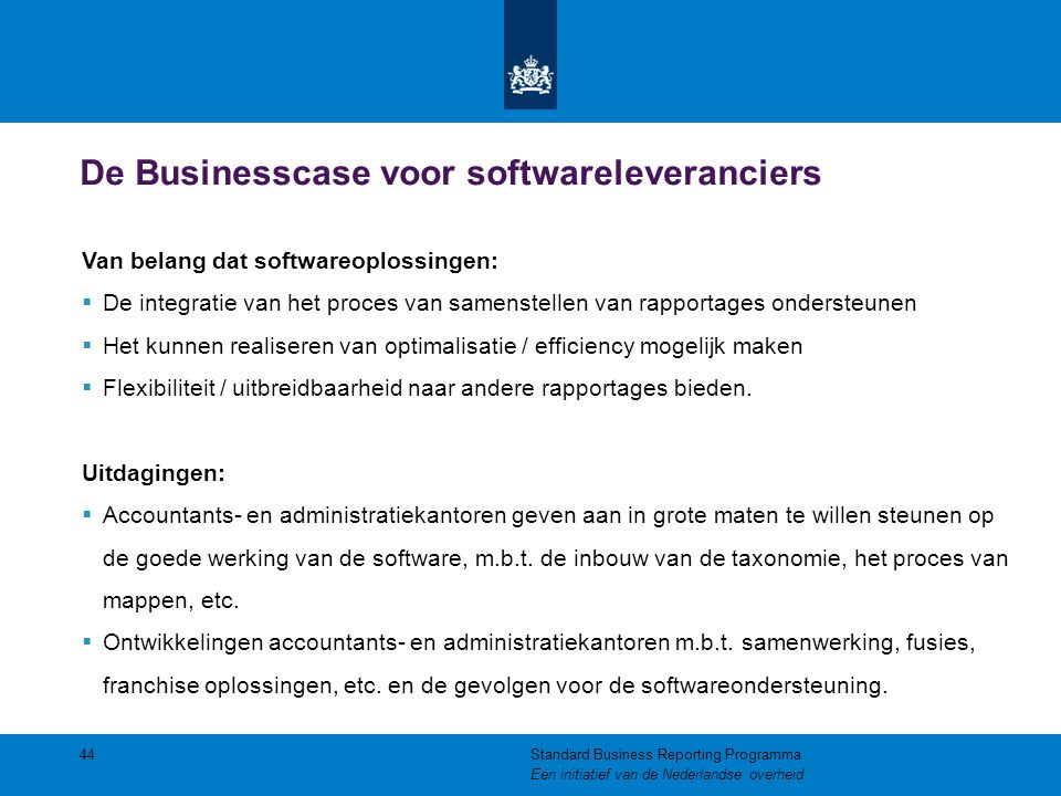 De Businesscase voor softwareleveranciers