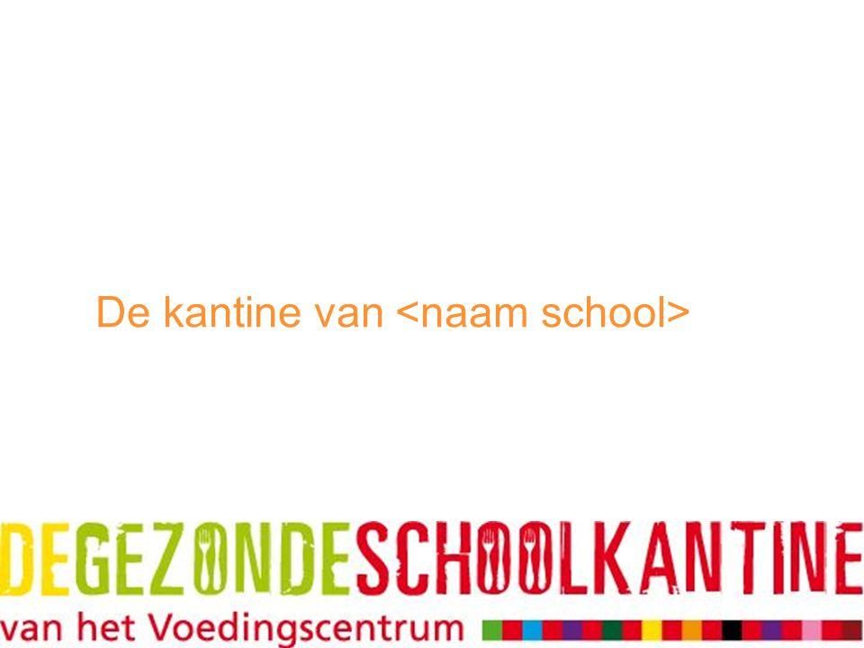 De kantine van <naam school>