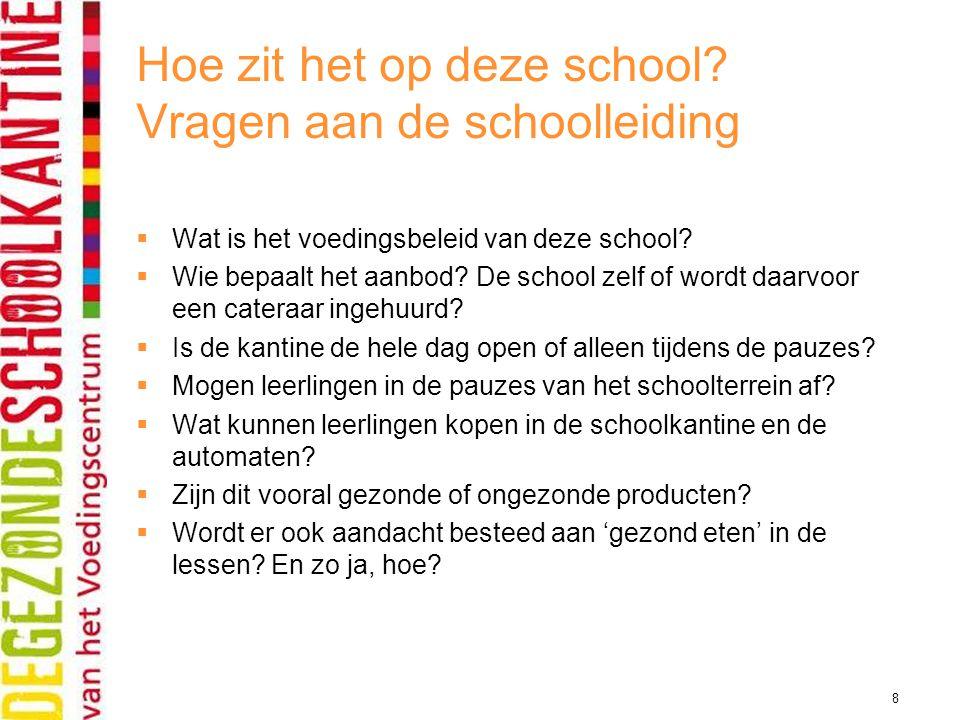 Hoe zit het op deze school Vragen aan de schoolleiding